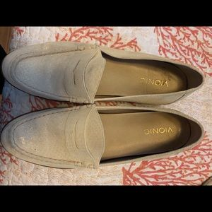 Vionic gold flex penny loafer